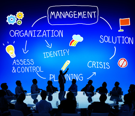 Management Solution Planning Organisatie Autoriteit Concept