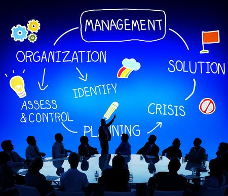 Société de gestion de la planification Solution Autorité Concept Banque d'images - 44690282