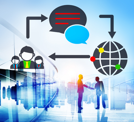 global communications: Global Communications Connection Social Networking Concept Stock Photo