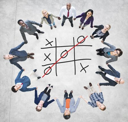 toe: Tic Tac Toe Game Competition XO Win Challecge Concept