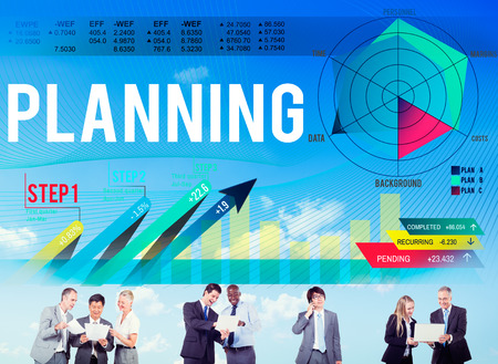 human figure: Business Planning Data Analysis Strategy Concept