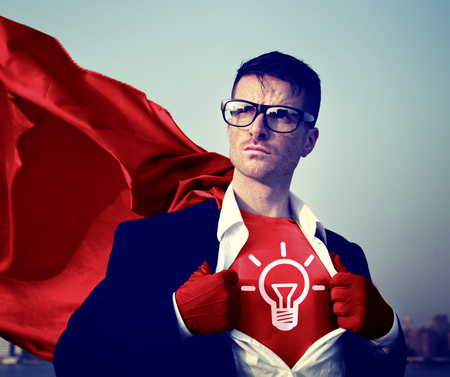 energy work: Strong Superhero Businessman Ideas Concepts