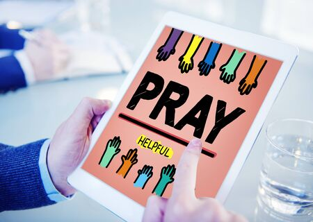 place to learn: Pray Praying Hope Help Spirituality Religion Concept