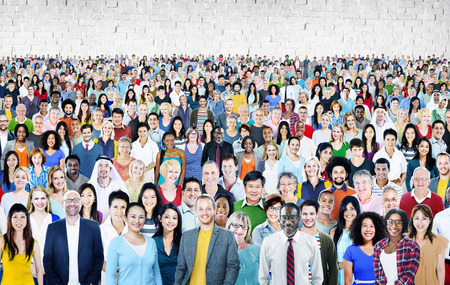Large Group of Diverse Multiethnic Cheerful Concept Stock Photo - 44690750