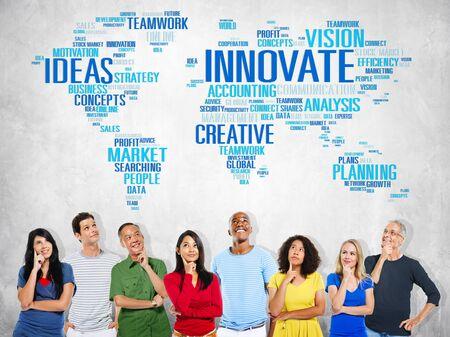 innovacion: Innovación Inspiración Creatividad Ideas Progreso Innovate Concept
