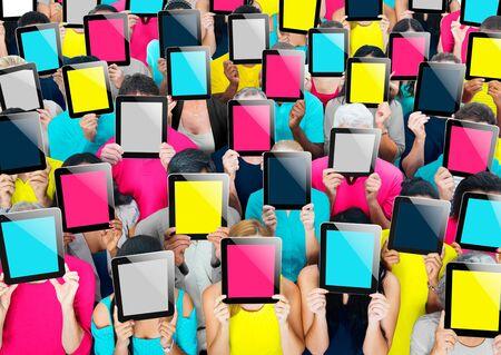 social gathering: Social Gathering Digital Tablet Communication Society Concept