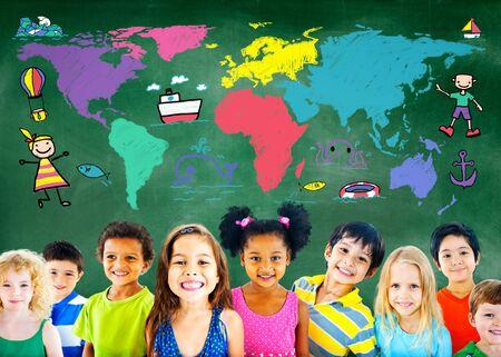 journey: World Kids Journey Adventure Imagination Travel Concept