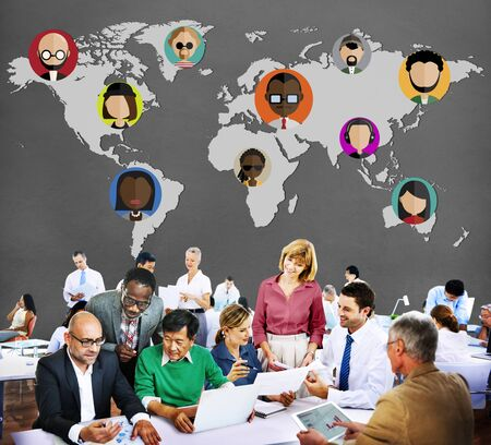 community group: Global Community World People International Nationality Concept