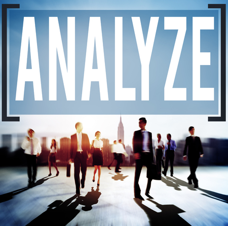 consideration: Analyze Evaluation Consideration Planning Strategy Concept Stock Photo