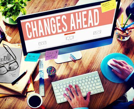 challenges ahead: Changes Ahead Ambition Aspiration Improvement COncept