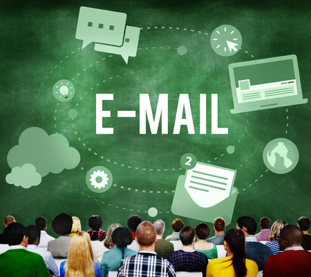 The word E-MAIL with audience