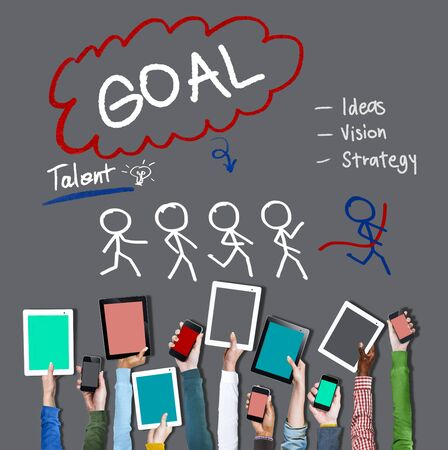 target thinking: Goal Expectation Target Mission Aim Concept