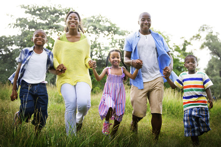 african american: African Family Happiness Holiday Vacation Activity Concept