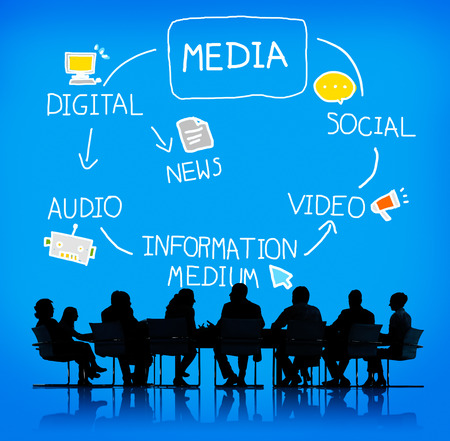 pr: Digital Media Information Medium News Concept Stock Photo