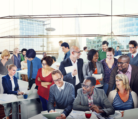 sales team: Diversity Support Organization Team Discussion Working Concept Stock Photo