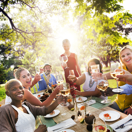 brunch: Diverse People Party Togetherness Friendship Concept