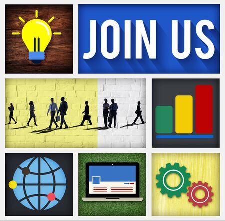 information medium: Join us Contact Business Information Medium COncept