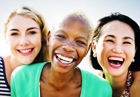 Vriendinnen Vriendschap Party Geluk Summer Concept Stockfoto