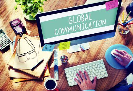 통신: 글로벌 커뮤니케이션 세계화 연결 개념 통신