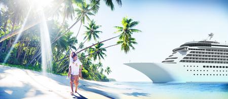 로맨스: Couple Romance Beach Love Island Concept