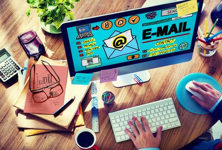 correspondence: Email Correspondance Online Mensajería Technologgy Concepto