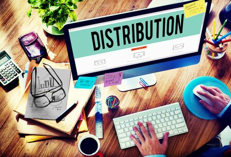 search marketing: Distribution Sale Marketing Distributor Strategy Concept