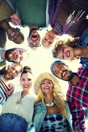 Vrienden Huddle Doe Holiday Party Group Concept