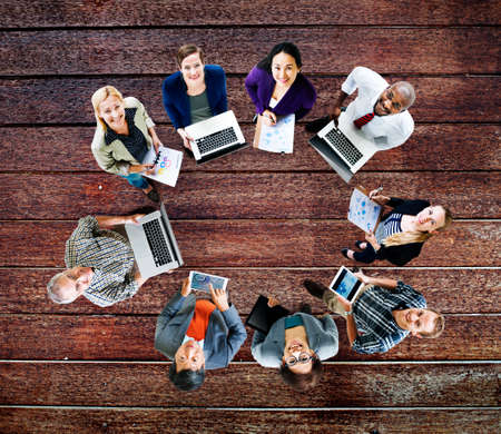 teamwork business: Global Communications Technology Laptop Digital Devices Concept