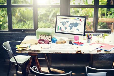 戦略ビジョンのグローバル ビジネス計画コンセプトを計画します。