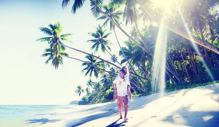 playas tropicales: Pareja Concepto Romance Beach Island Amor
