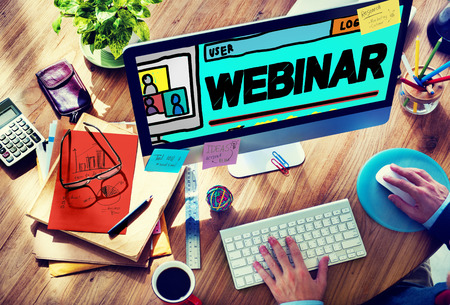Webinar Online Seminar Global Conmmunications Concept Stock Photo