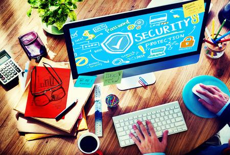 セキュリティ シールドの保護プライバシー ネットワーク概念