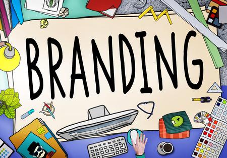 branding: Branding Brand Marketing Business Strategy Identity Concept