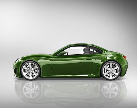 alloy: 3D Sport Car Vehicle Transportation Illustration Concept