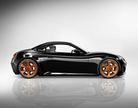 alloy wheel: 3D Sport Car Vehicle Transportation Illustration Concept