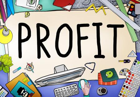 revenue: Profit Earning Benefit Financial Revenue Concept Stock Photo
