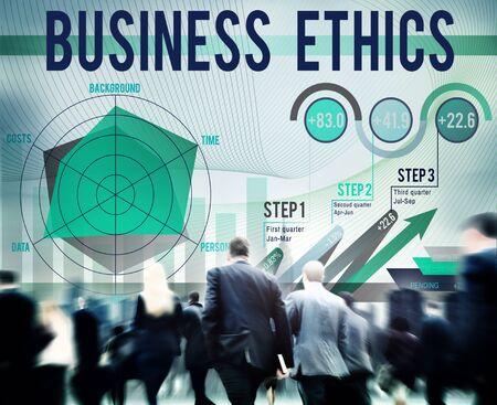 moral: Business Ethics Integrity Moral Responsibiliyt Honest Concept