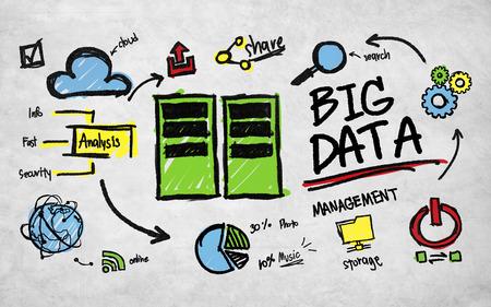 大きなデータ管理の技術コンセプトを共有ストレージ 写真素材