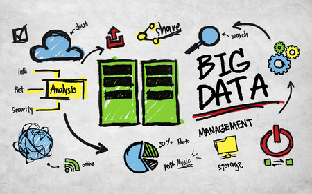 information analysis: Big Data Management Storage Sharing Technology Concept