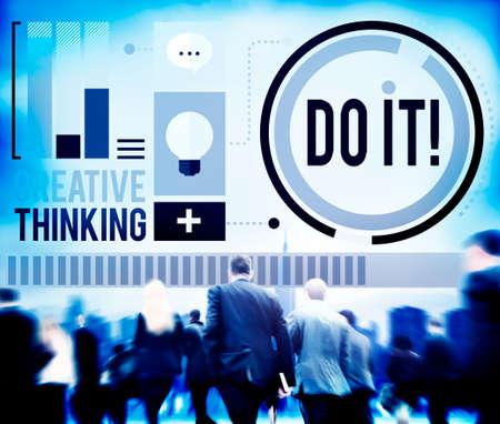 business improvement: Do it Goal Business Improvement Challenge Concept