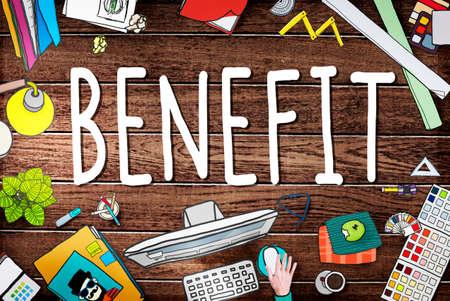 compensation: Benefit Income Incentive Profit Bonus Concept