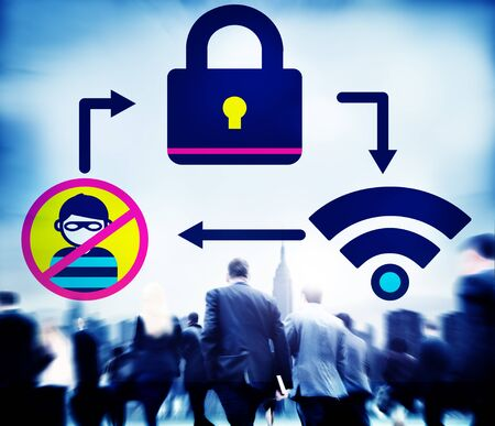 online privacy: Online Security Protection Networking Privacy Concept
