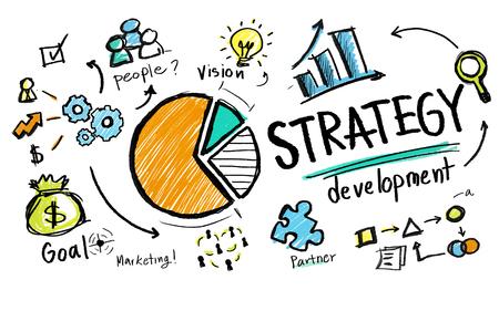 戦略開発目標マーケティング ビジョン事業コンセプトを計画 写真素材