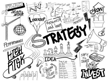 brainstorm: Strategy Doodle Freehand Creative Sketch Concept