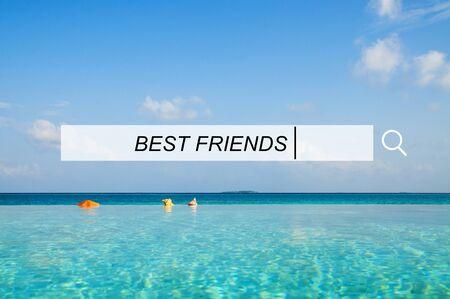 best friends: Best Friends Friendship Searching Box Concept Stock Photo