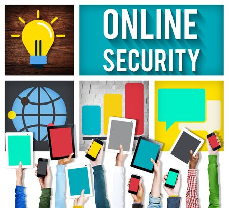 online security: Online Security Protection Privacy Data Concept