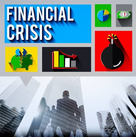 urban decline: Financial Crisis Problem Money Issue Concept