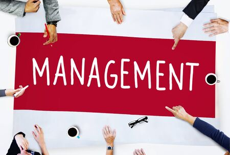 management training: Management Organization Director Managing Customize Concept