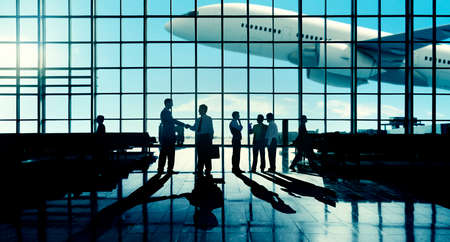 business travel: International Airport Business Travel Airport Terminal Concept