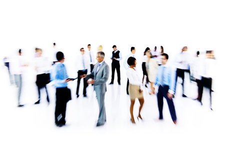office women: Group Business People Working Blurred Motion Concept